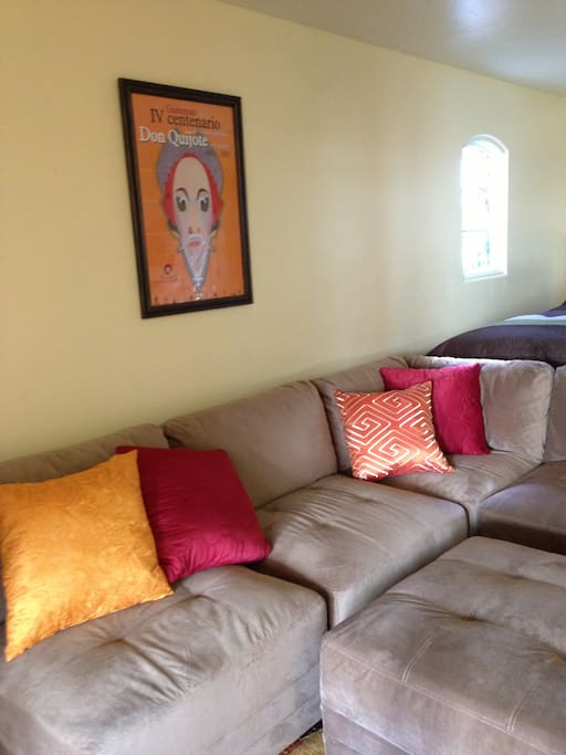 Large microfleece couch- Super comfortable!