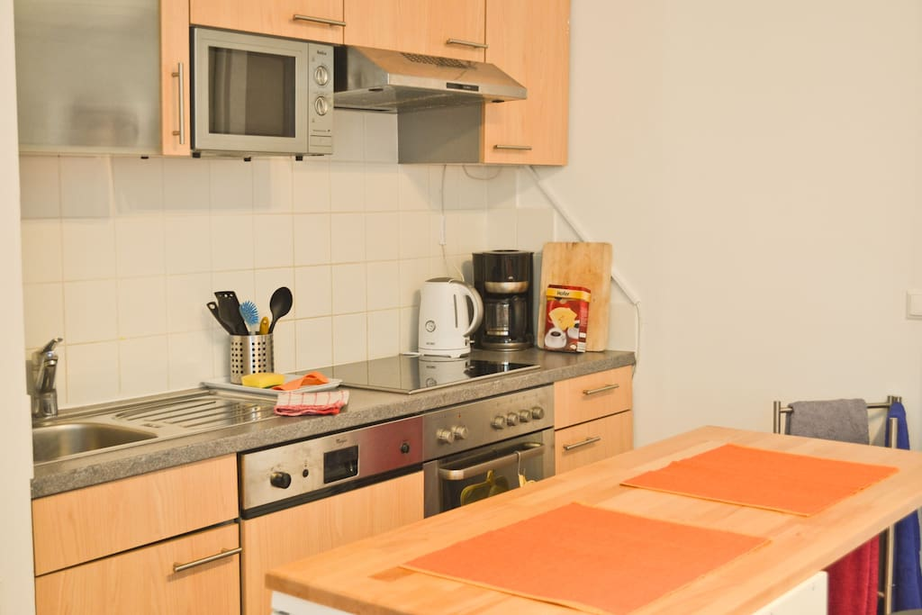 Fully equipped kitchen for you