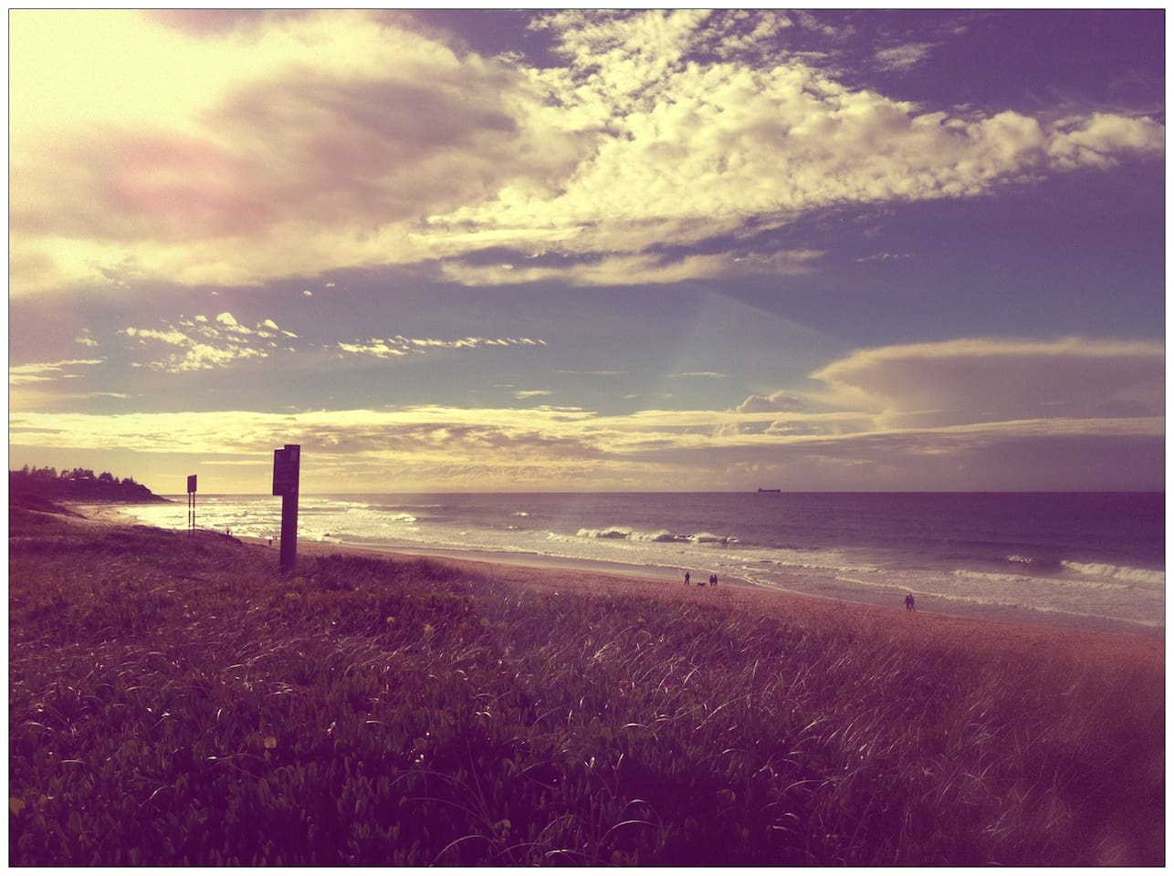 Shelly Beach. 700m walk. Great surfing, swimming and walking.