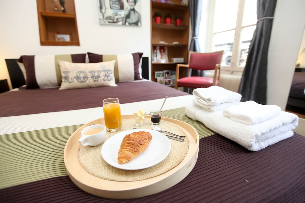 Typical French breakfast can be provided on request for an additional 5EUR per day per person