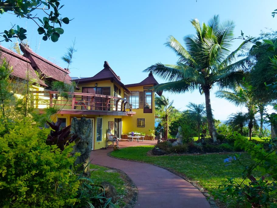 Living Elegantly Green! Our main house, called Opua house. Welcome to the real Hawaii.