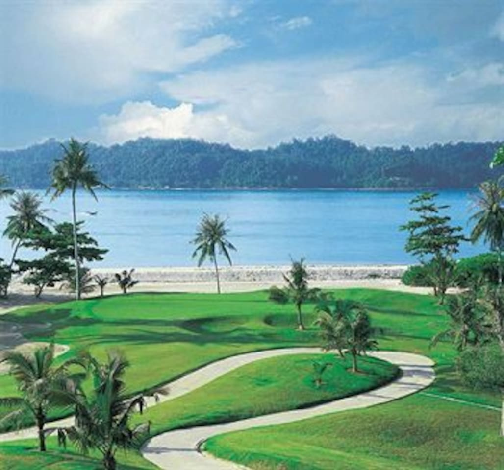 Golf Field With Sea View