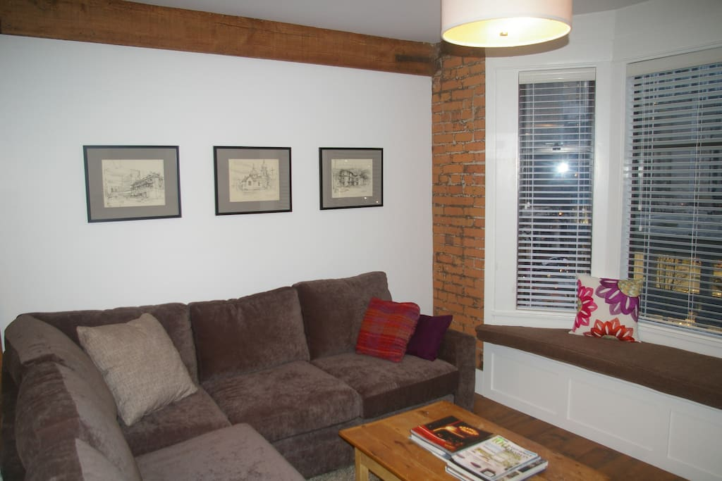 Sleeper sofa, loads of seating, original art and character heritage features