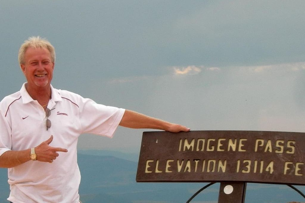 At the top of Imogene above Telluride and the mine that started the town.