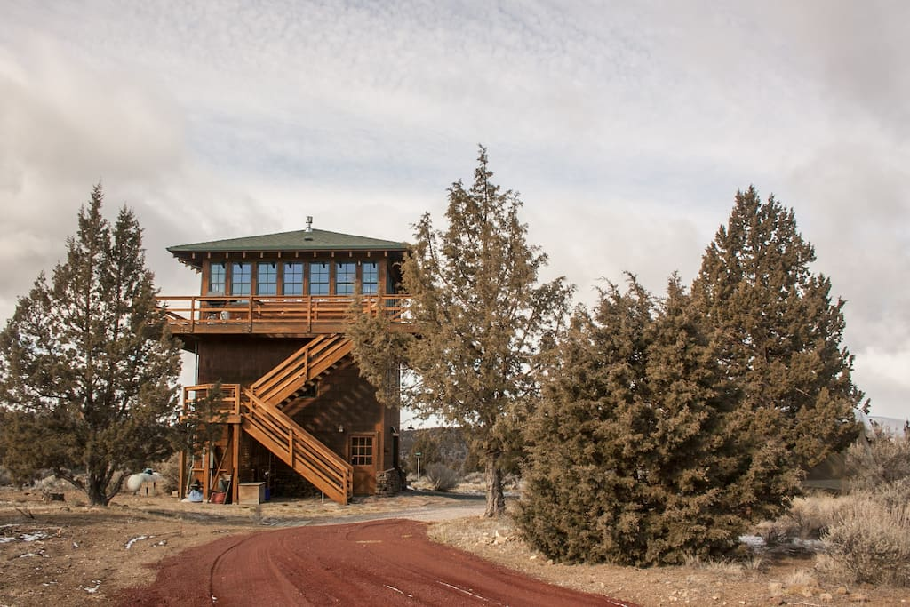 This is The Lookout as seen from the West, notice our new hot tub where you can enjoy the mountain views