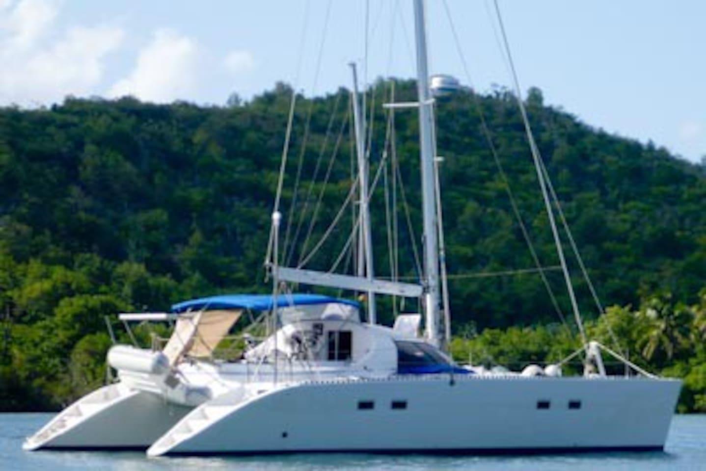 Yemaya a fast and comfortable sailing catamaran