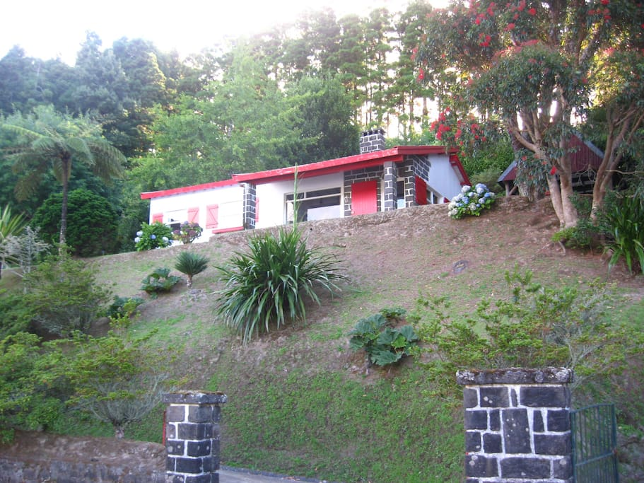 Furnas lake cottage is one of the only few houses that sit looking out over the Furnas lake.