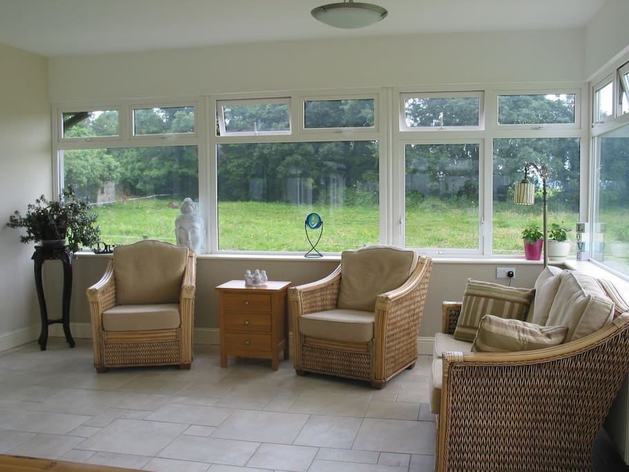 Bright Conservatory, feels almost like being outside!