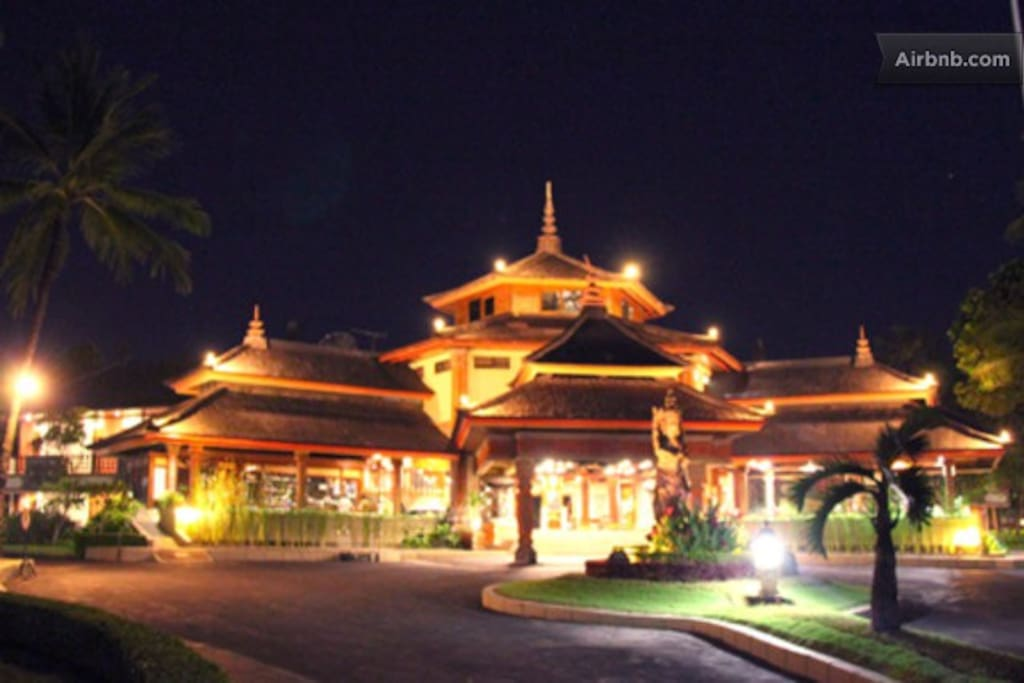 Night time view main resort complex