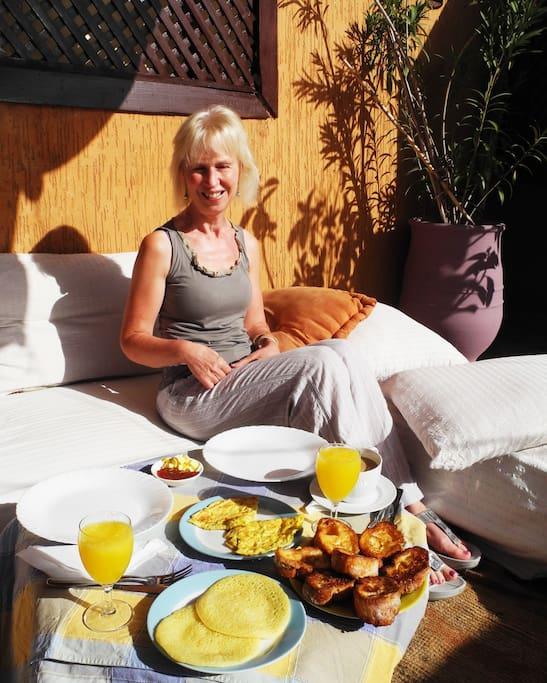 enjoy a wonderful breakfast on our sunny roof terrace