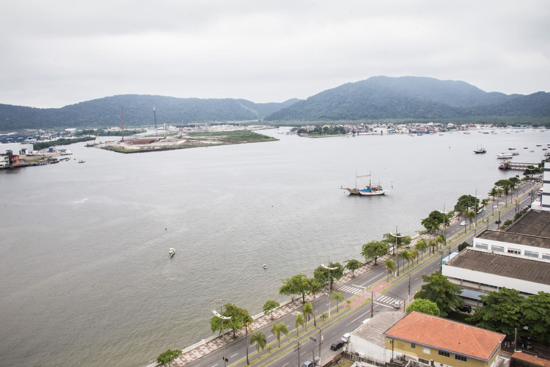 Vista da varanda, ilha do Guarujá