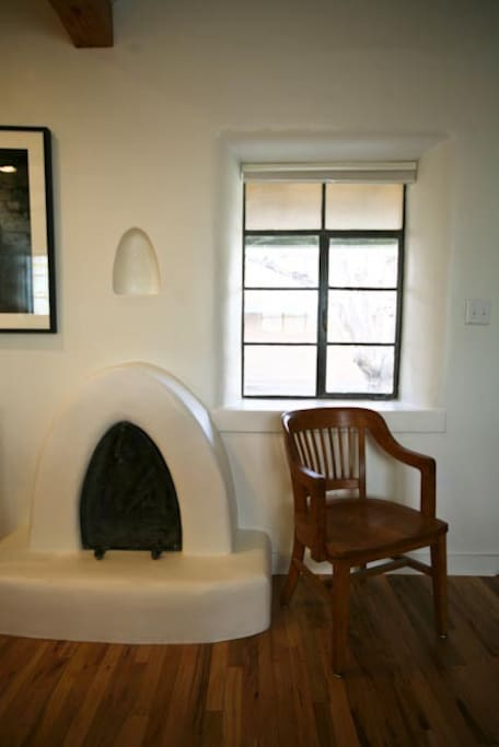 Kiva fireplace.
