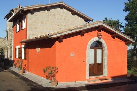 RED HOUSE - CASA ROSSA / BAGNOREGIO - Castel Cellesi - Rumah