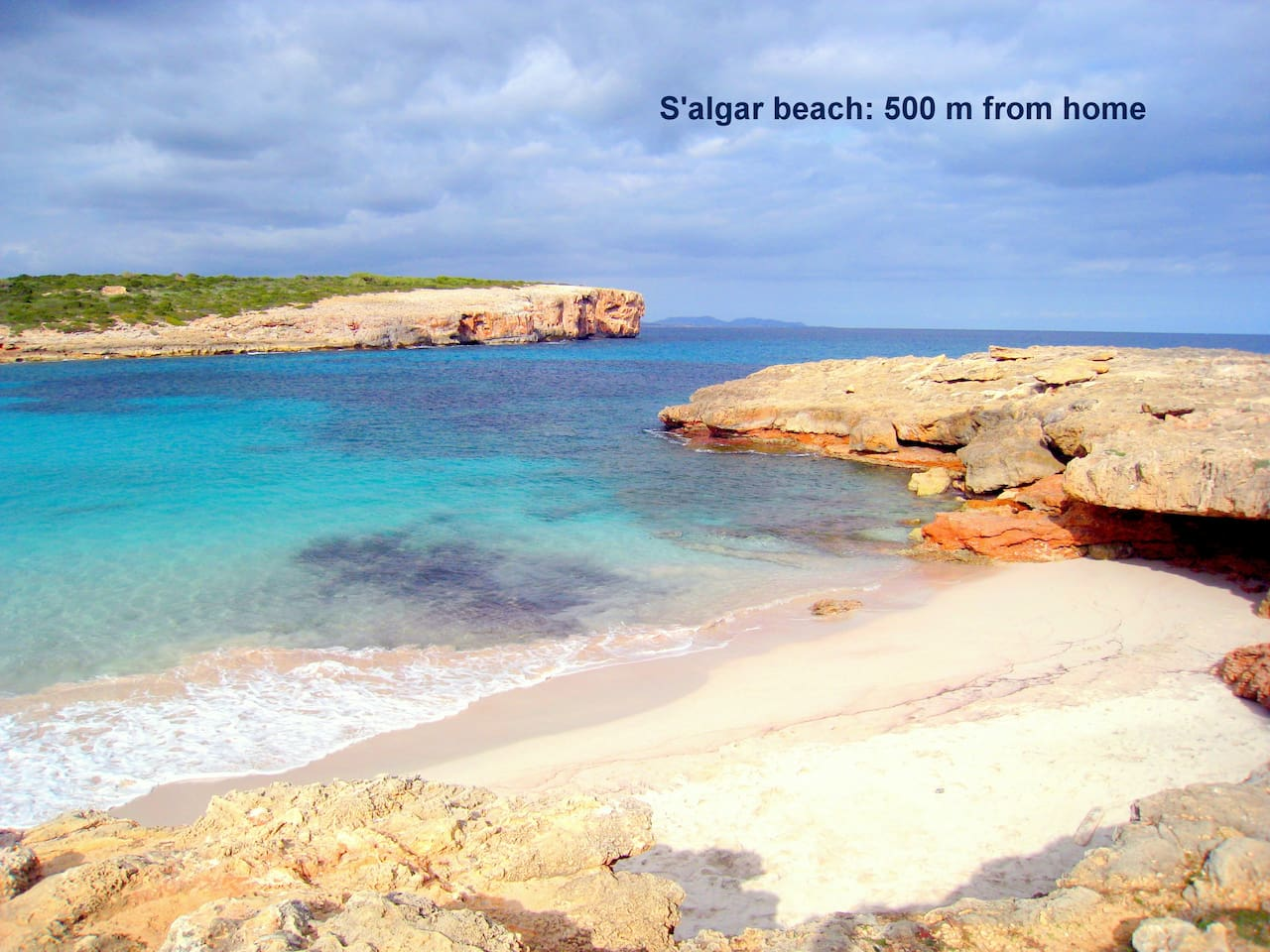 Welcome to Porto Colom! This is S'algar beach: natural park 500m of the house (5mn by foot)
