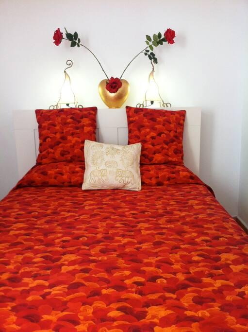 1Double room, Queen Size Bed.