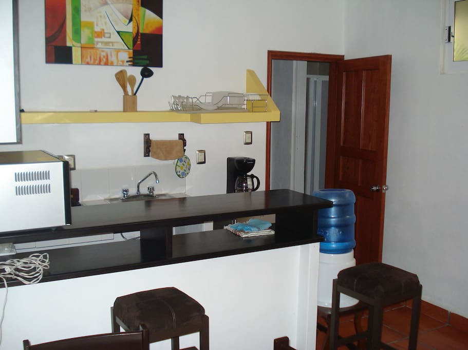 Large kitchenette and free filtered drinking water