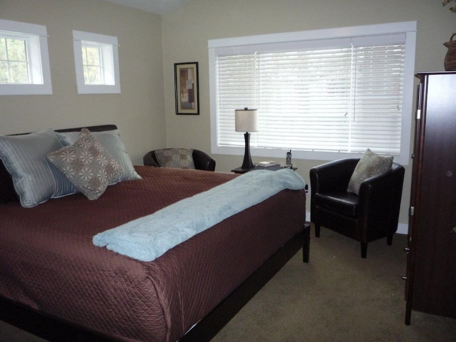Master Bedroom with a King (website hidden) and DVD player in the room too.
