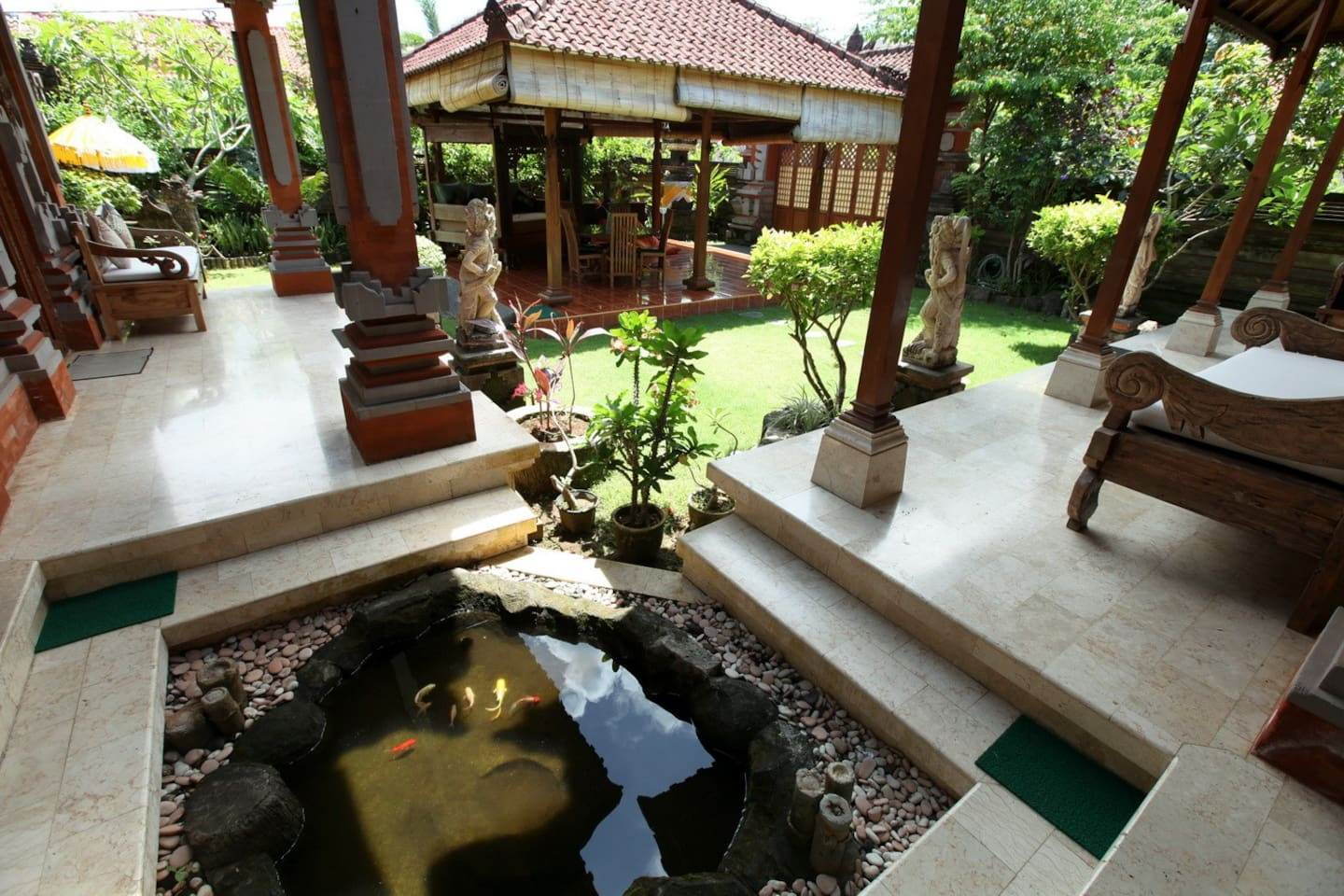 Fully Traditional Balinese Architecture  . Get the Real feel of being in Bali !