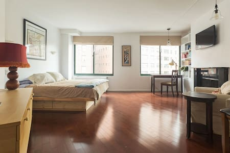 LOCATION, LOCATION! This perfect studio (with KING bed!) is nestled in the heart of the West Village, steps from Bleecker Street shops & amazing Village restaurants! Close to ALL west side subways. Elevator building. TV - NO, WiFi - YES! *NO SMOKING*