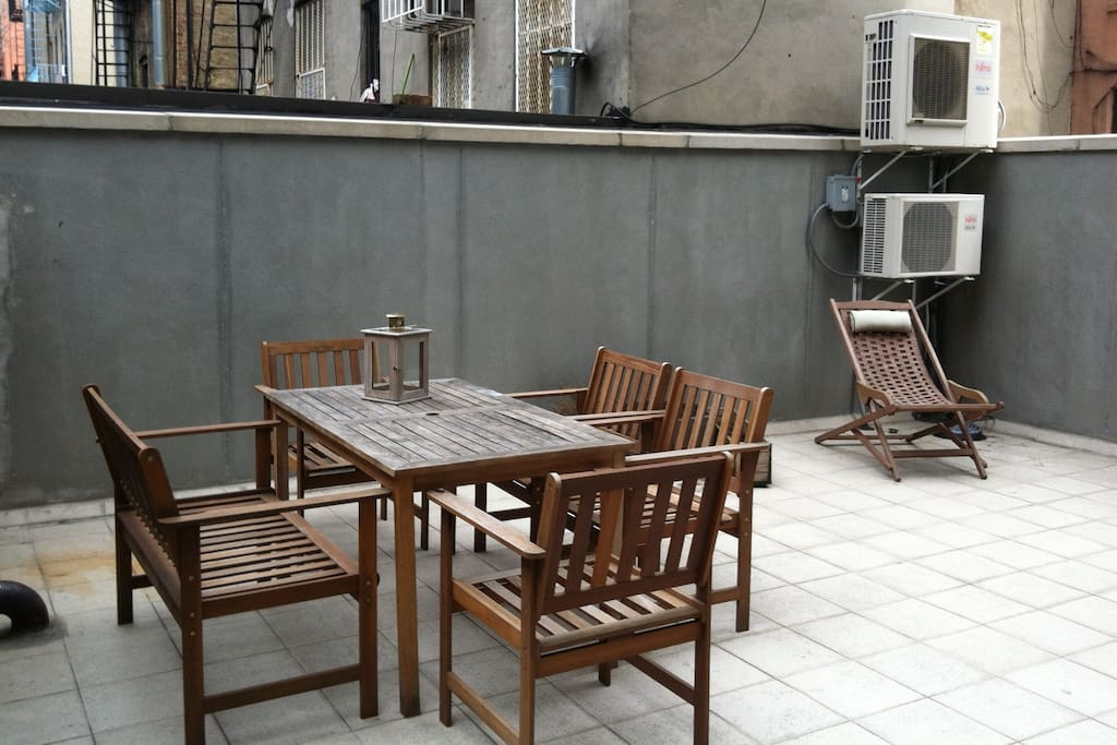 550 square feet of patio space
