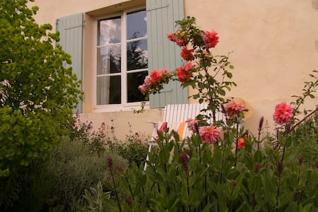 Girondine en pierre et piscine  - Saint-Exupéry - Huis
