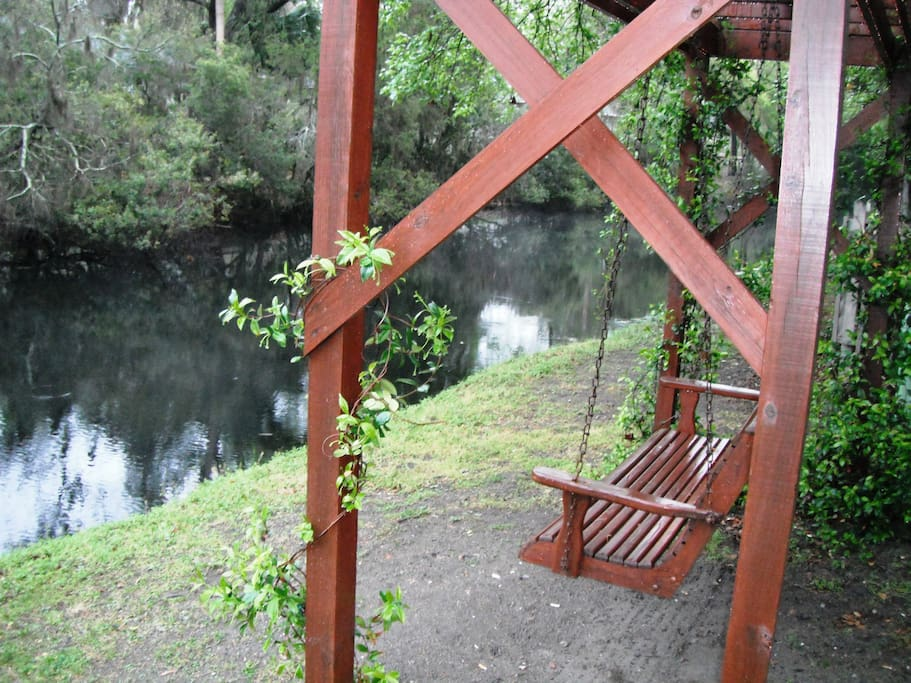 Sit by the lagoon and watch the alligators