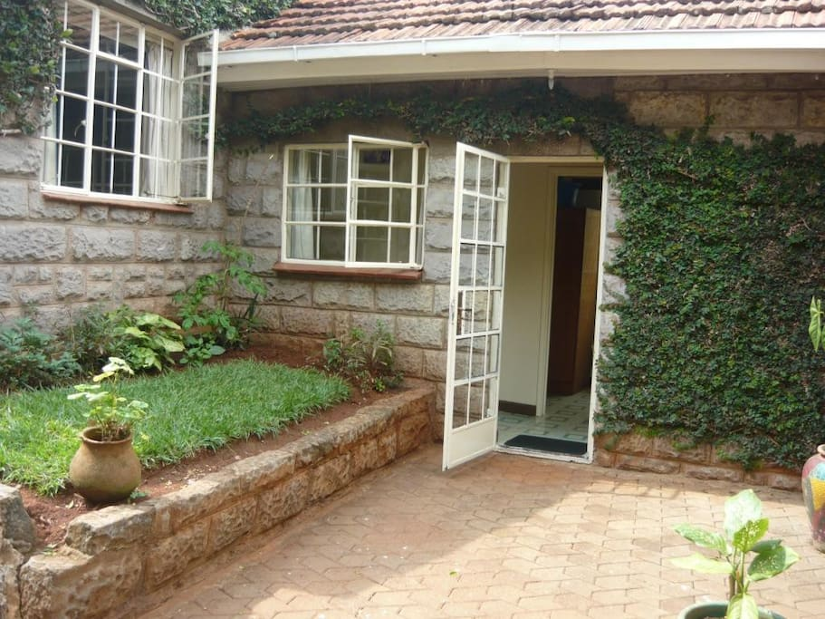 Separate entrance into Peaceful Garden