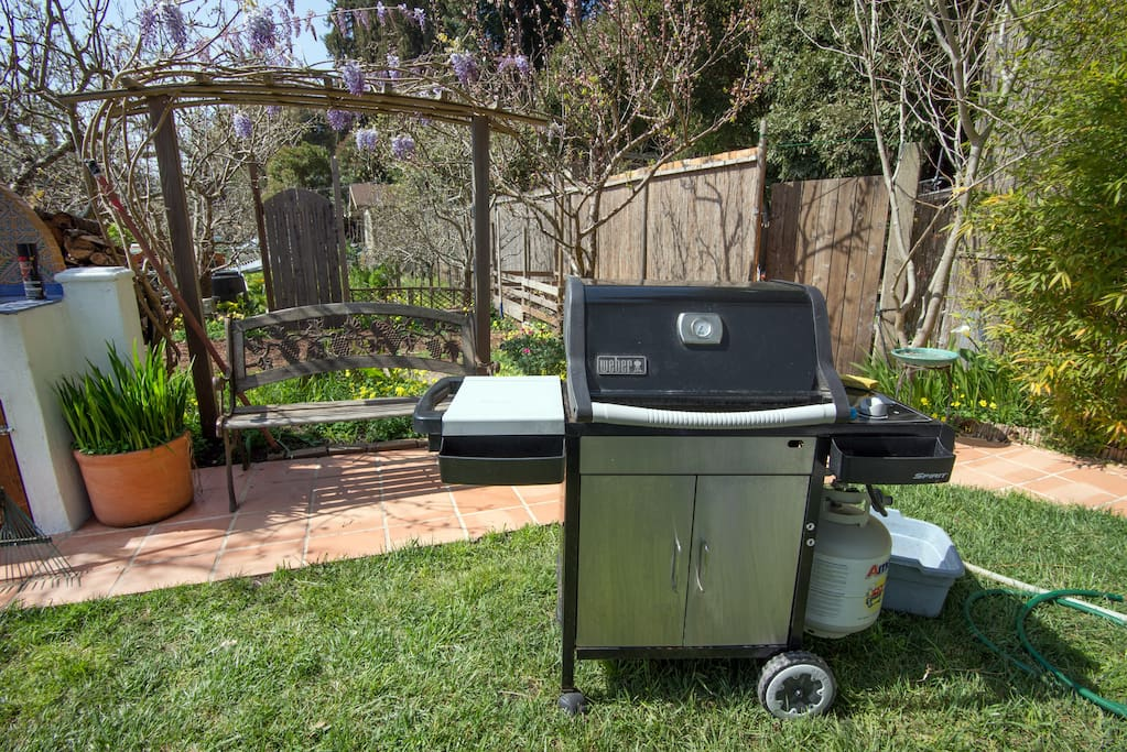 yard with seat and Grill