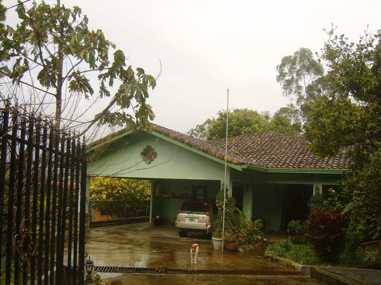 This is the exterior of my house in the Jaramillo Neighborhood of Boquete