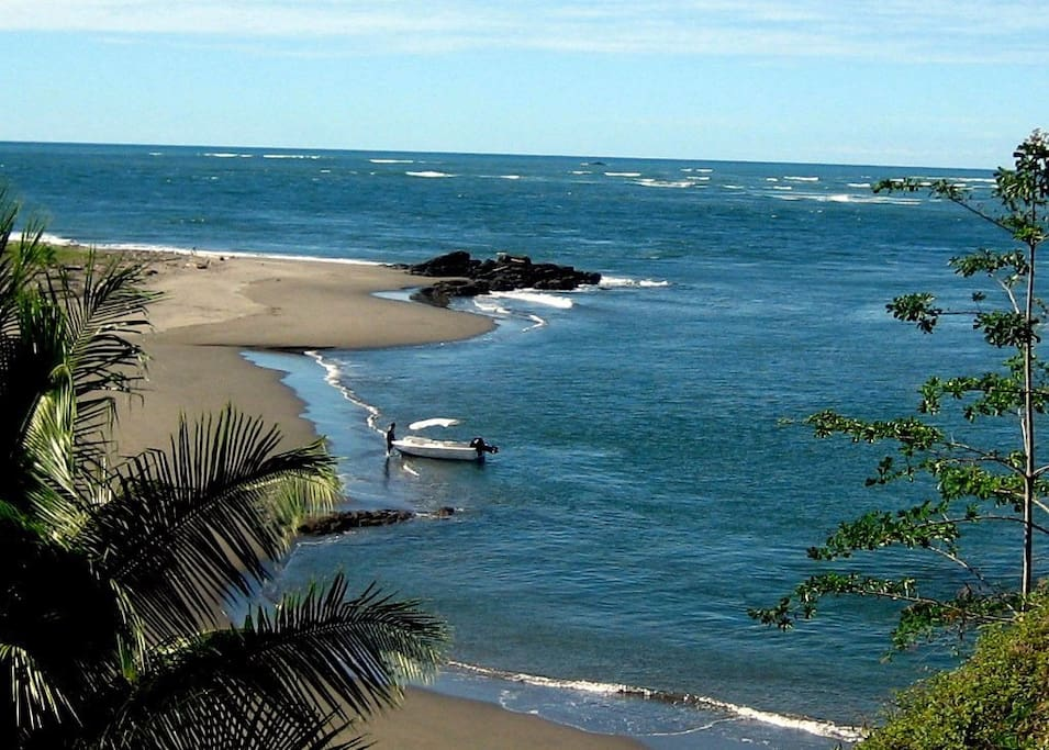 Tours to this beach at the mouth of the Sierpe River can be easily arranged.