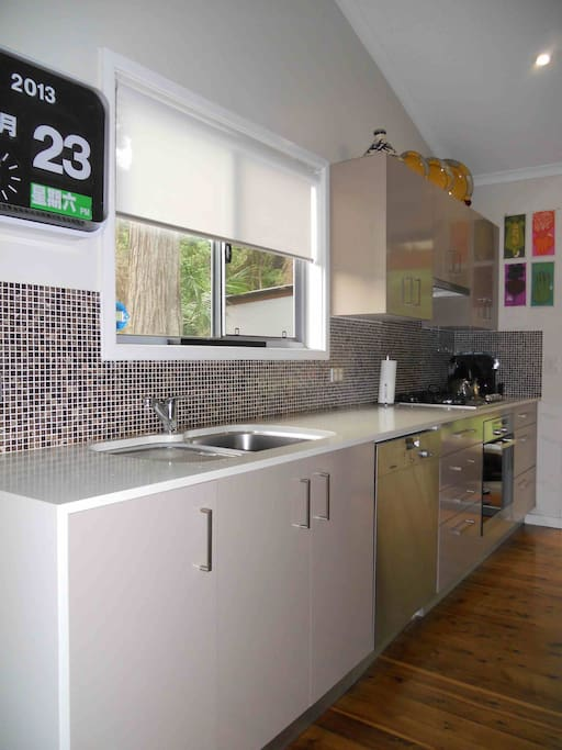 State-of-the-art kitchen with European appliances