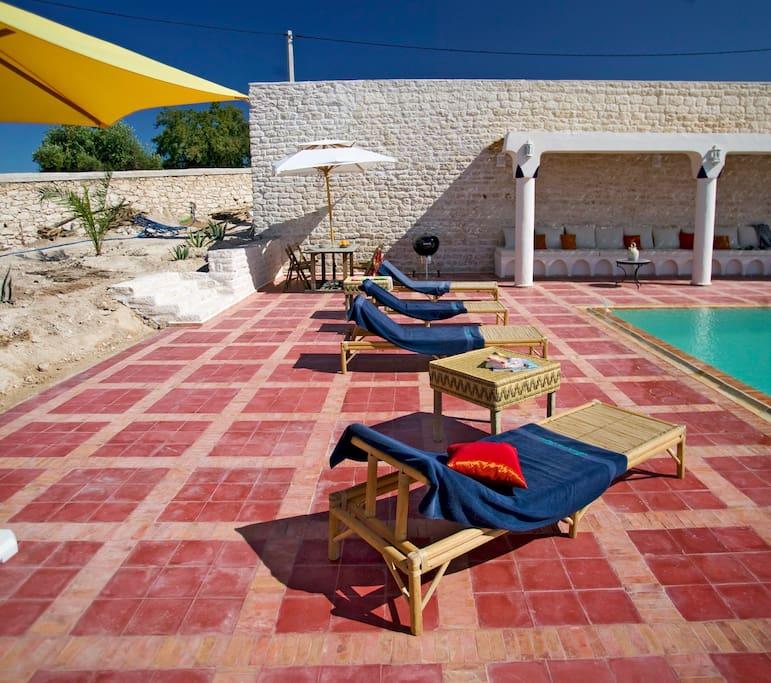 Maison d'hote Essaouira, Dar Diamar - La piscine Détail