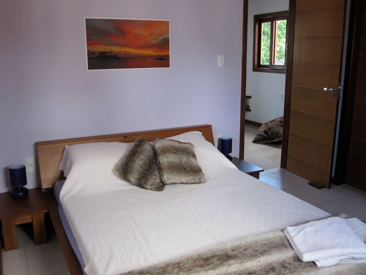 Double bedroom with AC