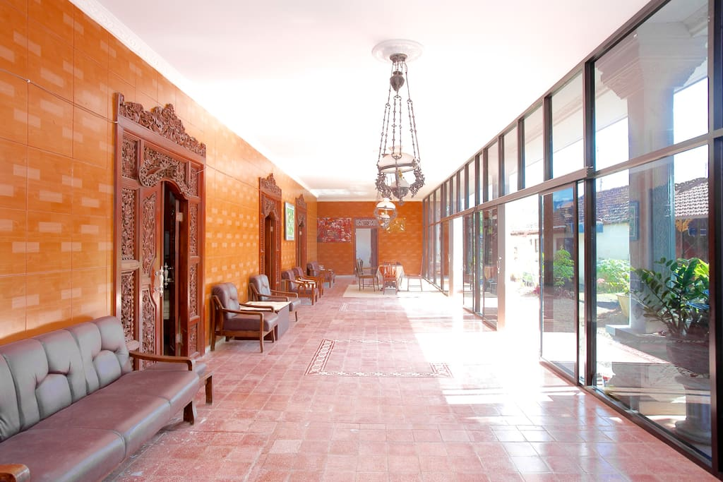 The common room/hallway of the main house