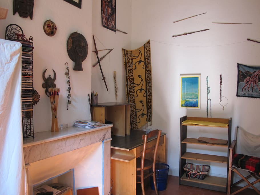 Chambre avec ambiance africaine
