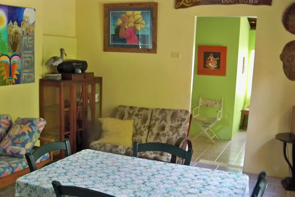 Bright Colors, Local Artwork in Every Room