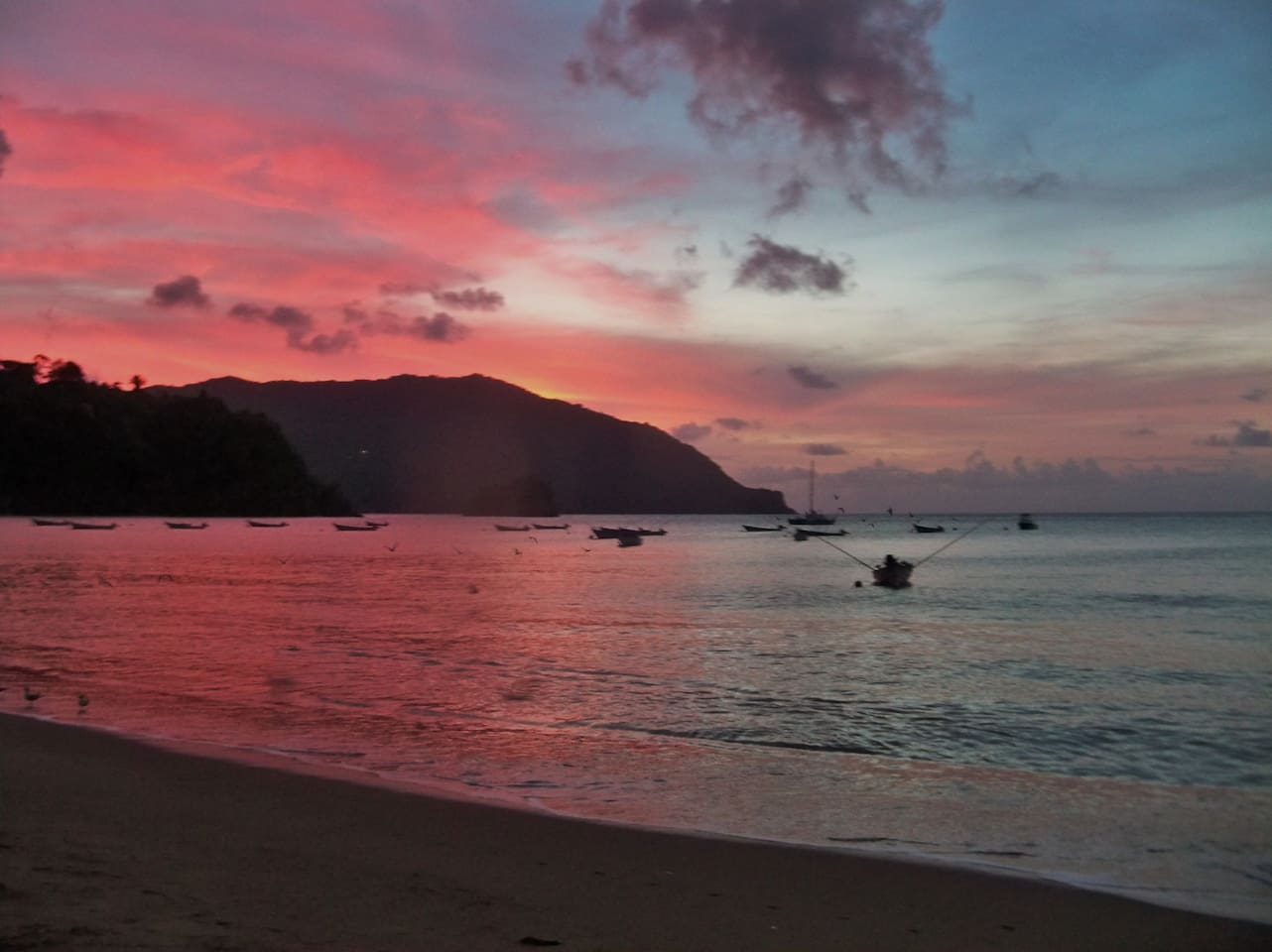 Sunset Over Man O'War Bay...Lovely Charlotteville