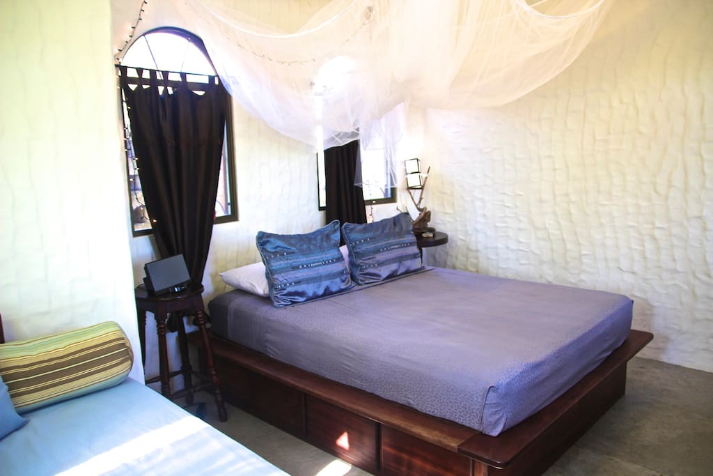 (most likely your room) Guest House - Sleeps 3, queen bed and twin day bed, Private bathroom and mini fridge