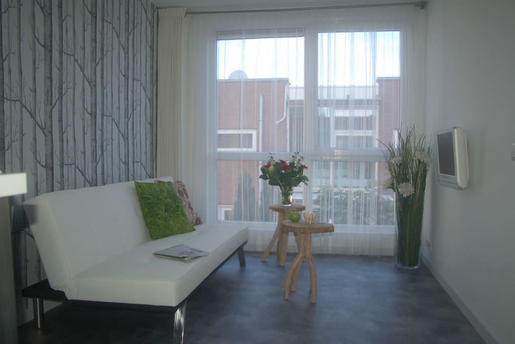 Accommodation Studio B&(B) Het Weerhuis: South of Rotterdam: lounge area