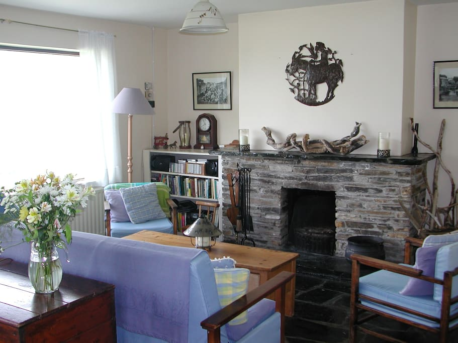 The living room and separate dining area are bright and have gorgeous views.