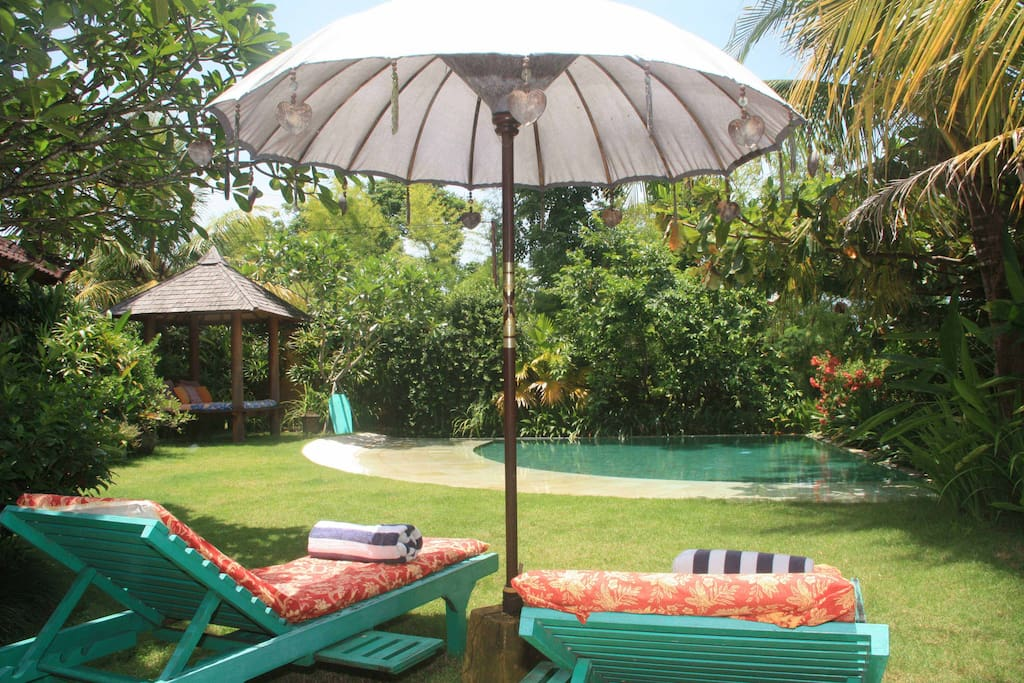 Tropical lush garden, private pool, and plenty space to relax...