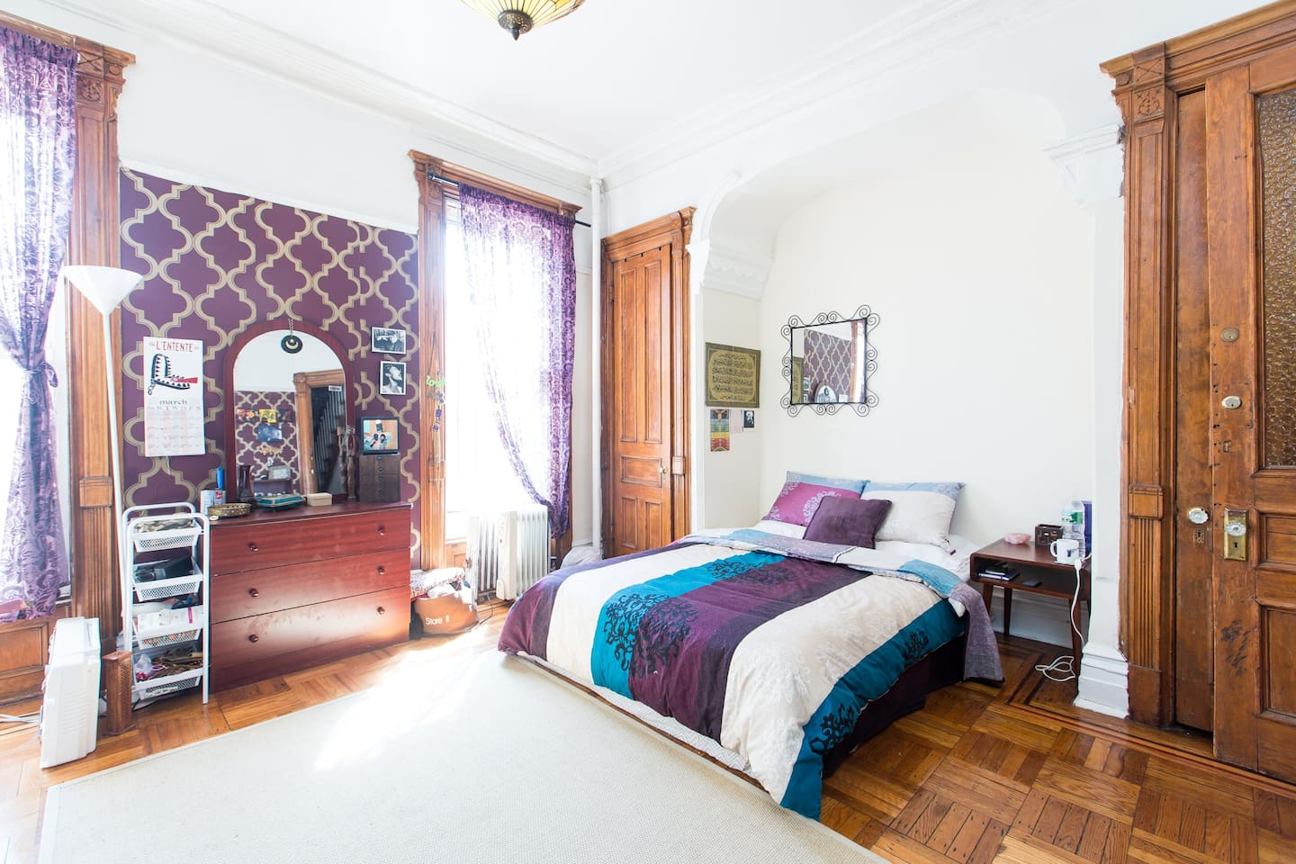 The decor has changed, the room is beautifully furnished and has a more zen feel upon your arrival. Huge with Bright Sun, Garden Views, Two Large Closets, Queen Bed, Desk, Eat-In Bistro style table, Victorian and Modern Details! Feels like your own studio