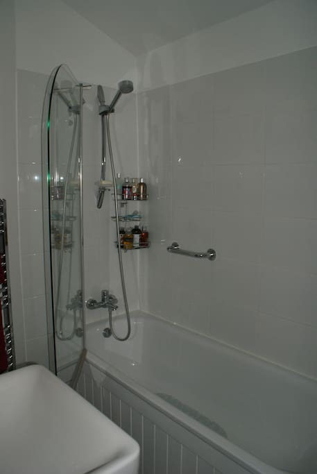 bath/shower in bathroom