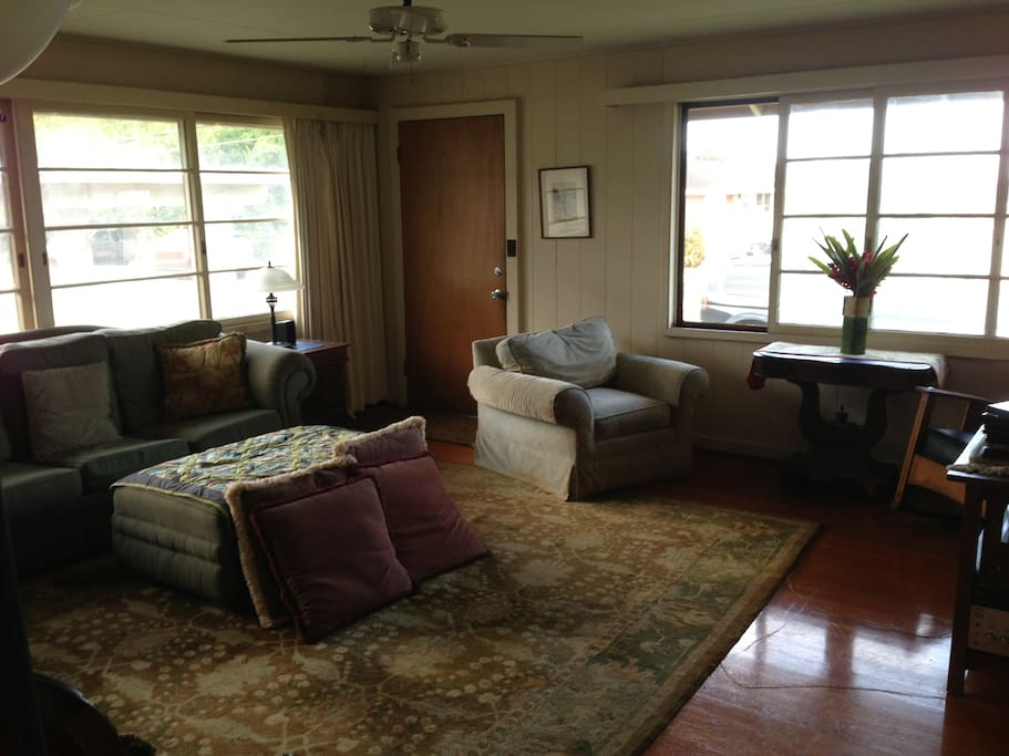 Spacious living room for all to share.