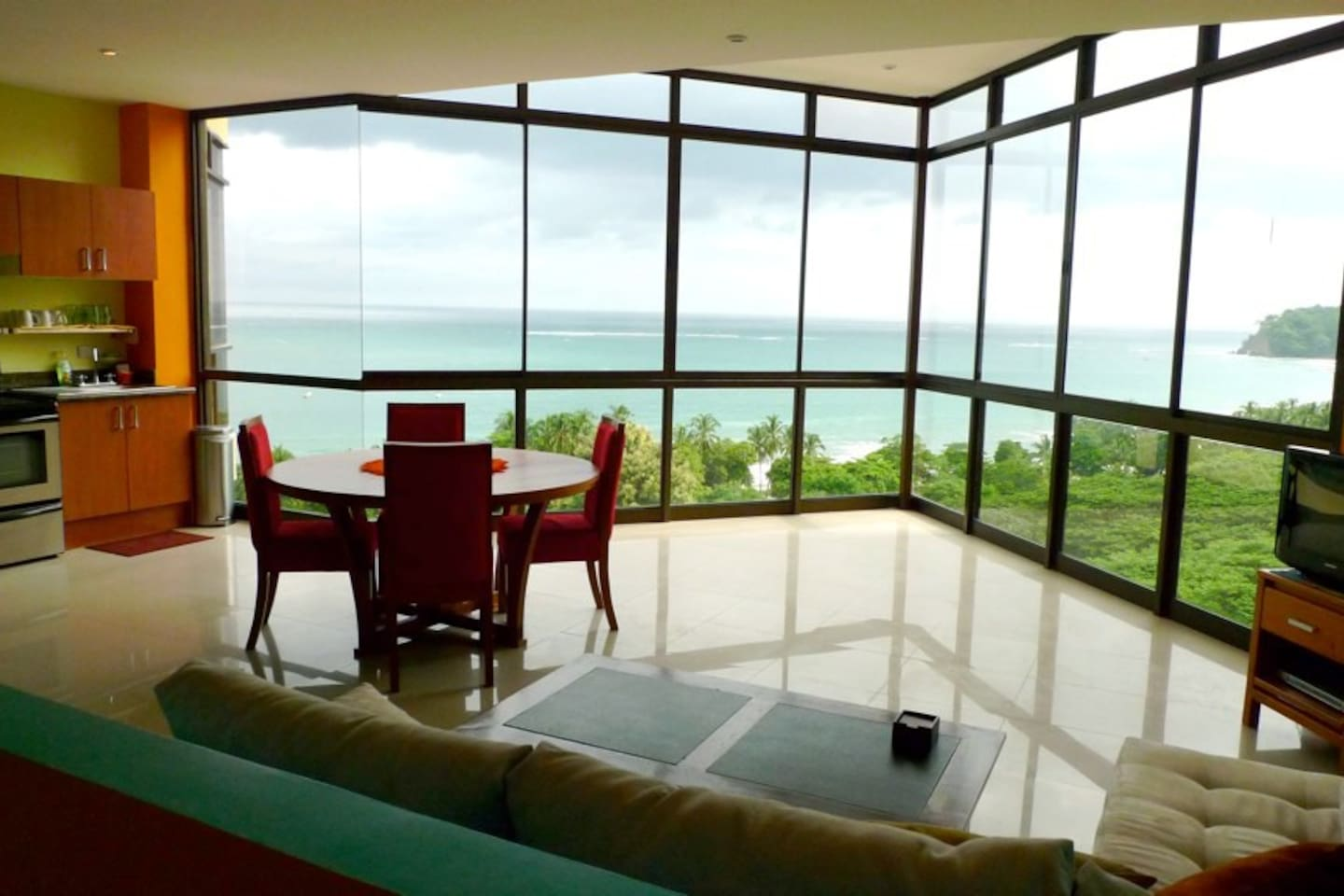 Spectacular 180 degree ocean view when you walk into the condo.