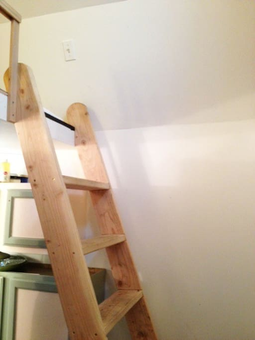 The ladder up to the loft.