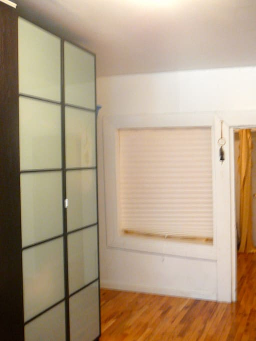 Large wardrobe in master bedroom