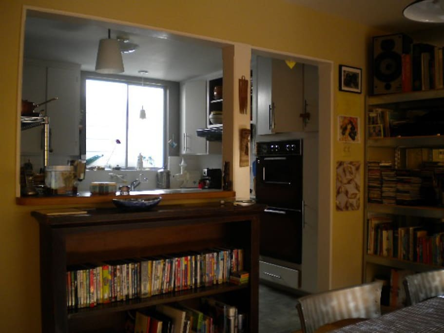 kitchen view from dining area
