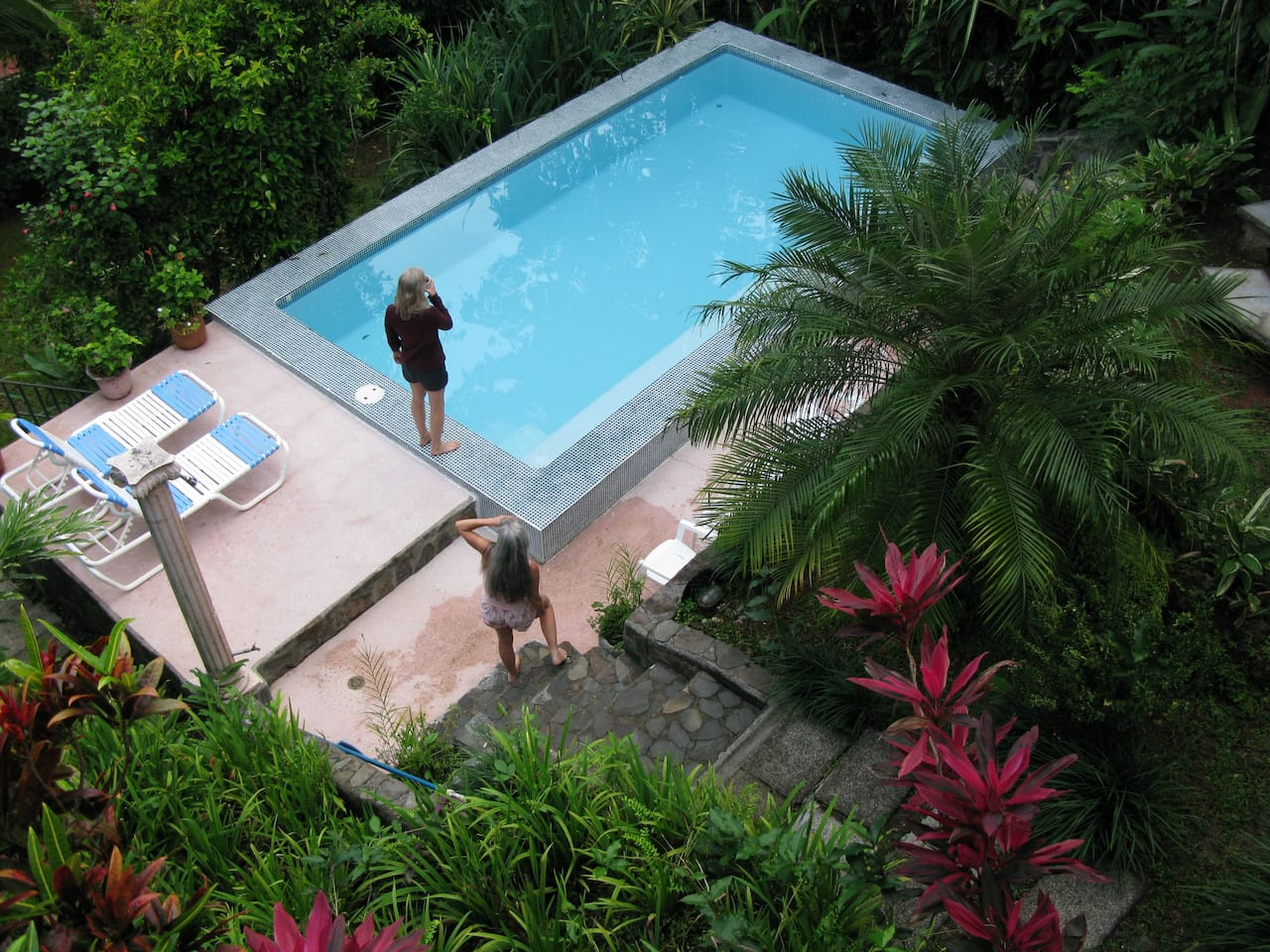 private pool/ acre of gardens