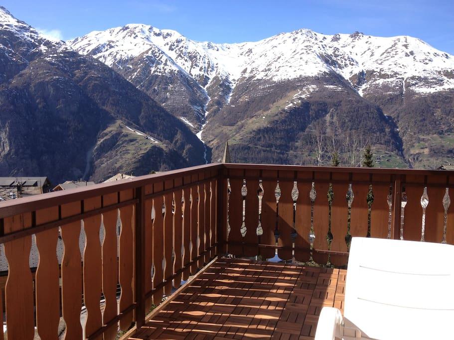270 Grad Aussicht auf Mattertal und Rhonetal